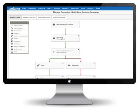 Desktop view of LeadMaster's Sales Acceleration