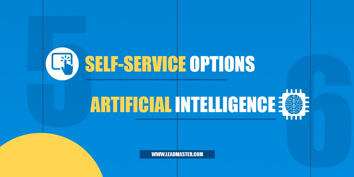 Graphic that says self-service options and artificial intelligence