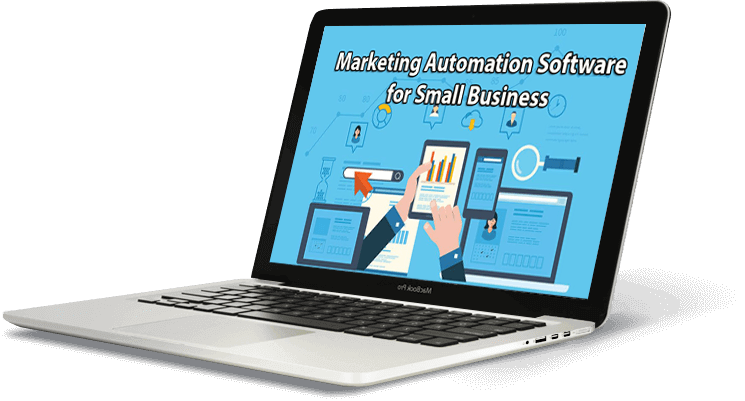 Macbook Laptop displaying Marketing Automation Software for Small Business on the screen